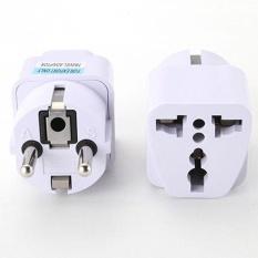 Universal UK US AU untuk EU AC Power Socket Plug Travel Charger Adapter Converter Putih-Intl