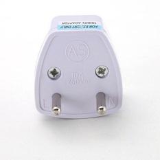 Universal UK US AU untuk EU AC Power Socket Plug Travel Charger Adapter Converter Putih-
