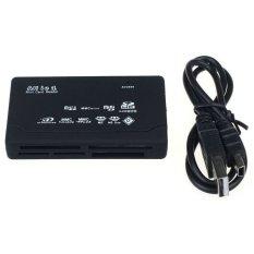 Spesifikasi Universal Usb 2 Card Reader For Sd Xd Mmc Ms Cf Sdhc Tf Micro Sd M2 Adapter Black Dan Harganya