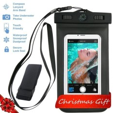Universal Waterproof Case with Armband, Compass, Lanyard - Best Water Proof, Dustproof, Snowproof Pouch Bag for iPhone X, 8 , 7, 6S, 6, Plus, 5S, Samsung Galaxy Phone S7, S6 - intl
