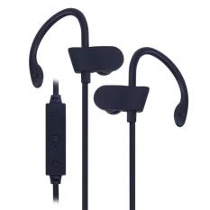 Universal Nirkabel Bluetooth Olahraga Earphone Stereo Earbud Headset (Hitam)-Intl