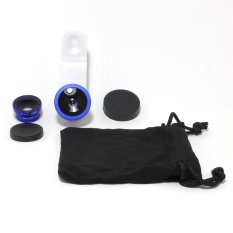 Spesifikasi Uno Max Universal Clip Lens Kit With Fisheye Macro And Wide Angle Lens White Blue Murah