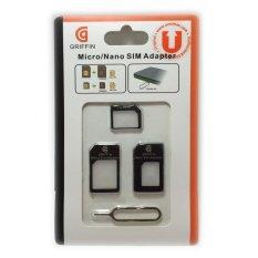 Beli Unomax Accessories Micro Nano Sim Adapter Black Unomax Accessories Dengan Harga Terjangkau