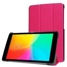 untuk LG G PAD X 8.0/G Pad III 8.0 Kasus, CLOUDSEA Multidimensional Tri-fold Ultra Slim Stand Leather Back Case Cover untuk untuk LG G PAD X 8.0 (T-mobile V521WG) /G Pad III 8.0 V525 8-Inch Tablet (Hot Pink)-Intl