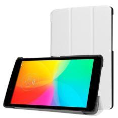 untuk LG G PAD X 8.0/G Pad III 8.0 Kasus, CLOUDSEA Multidimensional Tri-fold Ultra Slim Stand Leather Back Case Cover untuk untuk LG G PAD X 8.0 (T-mobile V521WG) /G Pad III 8.0 V525 8-Inch Tablet (Putih)-Intl