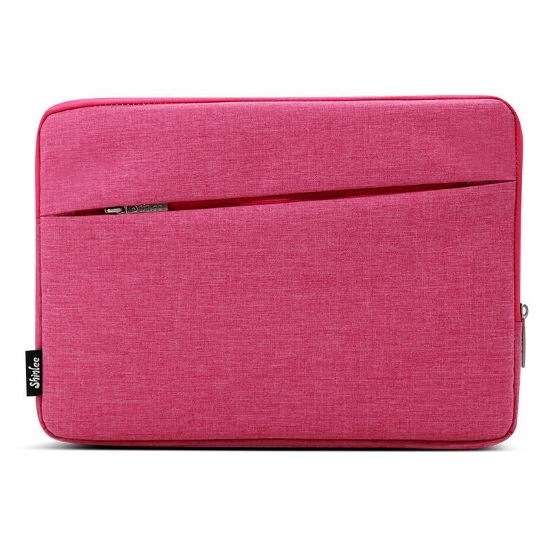 untuk MacBook Air 11.6 Inch dan 11 Inch dan Di Bawah Tas Laptop Universal Kain Soft Portable Paket Pouch (Pink) -Intl