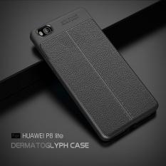 UPaitou Berkualitas Tinggi Lengkeng Tekstur Soft TPU untuk Huawei P8 Lite Cover Silicone Case untuk