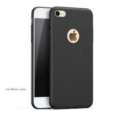 Versi Upgrade Mewah Ultra Tipis 360 Derajat Cakupan Pasir Terasa Frosted Matte Case untuk Apple untuk IPhone 7 Plus Full Body Cover Kasus Telepon (Warna: Hitam)-Intl