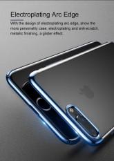 Urshine Cell Phone Cover untuk Apple IPhone 8 PLUS Transparan Crystal Clear Silikon Case 3D Laser Biru Merah Merah Dilapisi Emas Bumper Seluruh Badan Cover untuk IPhone 8 Plus 5.5