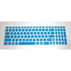 US layout Keyboard Protector Skin Cover for Asus GL552VW GL552JX G501JW Q552UB Q503UA F554LA F555UA F555LA R556LA K501UX N551JQ X550ZA X751LAV GL752VW GL702VM P2540UA P2530UA (semi-blue) - intl