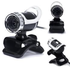 USB 12 Megapixel Kamera HD Web Cam 360 ° Mikrofon Klip-Pada For Laptop Komputer PC (hitam)