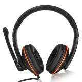 Harga Usb 2 Stereo Headset Earphone Dengan Mic Untuk Pc Laptop Hitam Intl Satu Set