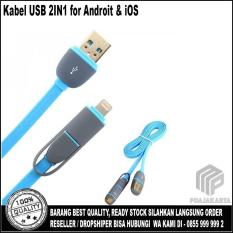Usb 2In1 Charger Speed Cable Data 1M Blue Dki Jakarta Diskon 50