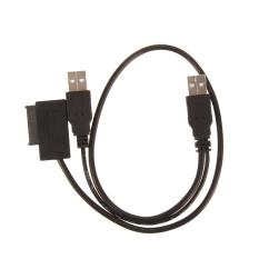 USB 2.0 to 7+6 13Pin for SATA CD/DVD Optical Drive Adapter Cable - intl