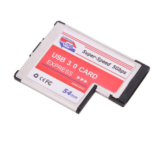 USB 3,0 Express Card Ekspansi PCMCIA 2-port Laptop NEC Chip USB-Internasional