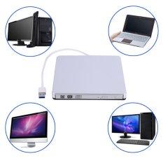 USB 3.0 Eksternal DVD/CD-RW Drive Burner Slim Portabel Driver Buat Netbook MacBook Laptop PC