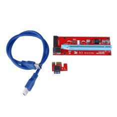 Jual Beli Usb 3 Pci E Express 1 X For 16 X Extender Pengangkat Adaptor Kartu Sata 15Pin Power 60 Cm Internasional
