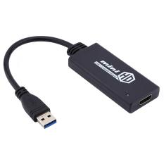 USB 3.0 untuk HDMI tampilan kabel konverter Adaptor Grafis untuk HD PC 1080P (Hitam)