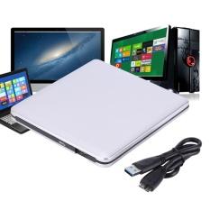 USB 3.0 Eksternal DVD/CD-RW Drive Burner Slim Portabel Driver untuk Netbook MacBook Laptop (Perak)-Intl