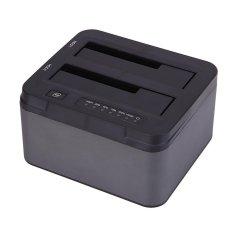 USB 3.0 untuk Ganda Adaptor SATA Docking Station untuk 2.5 atau 3.5 HDD Inci SSD Uni Eropa-Internasional