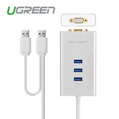 USB 3.0 untuk VFA Video Adaptor Grafis 1000 Gigabit Ethernet Display Eksternal Kabel Konverter Hub untuk Windows XP 7 8 8.1 10 CHINA-Intl