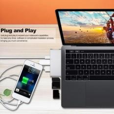 Usb 3.1 Jenis C HUB Usb C HUB Multi-port Adaptor HD Keluaran 4 K 2 USB 3.0 TF Sd Kartu Pembaca Port Pengisian Tipe C untuk MacBook Chromebook Piksel-Internasional