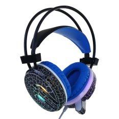 Jual Usb 3 5Mm Led Luminous Cr*ck Gaming Headphone Earphone W Mic For Pc Gamer Intl Intl Oem Online