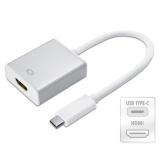 Jual Usb C To Hdmi Adapter 3 1 Usb Type C To Hdmi Conventer Multiport External Video Silver Di Bawah Harga