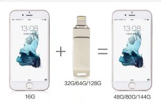 Toko Drive Flash Usb Logam Otg 128 Gb Pena Berkendara Untuk Iphone Pc Lengkap Tiongkok