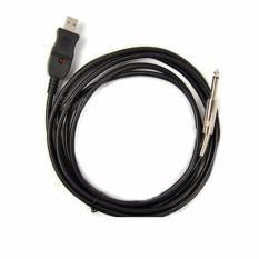 Jual Usb Guitar Link Audio Cable For Pc Mac 3M Ay14 S6157 Black Di Bawah Harga