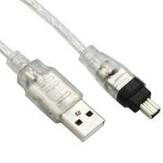 USB Male Ke Firewire IEEE 1394 4 Pin Female Ilink Adaptor Tali Kabel untuk SONY DCR-TRV75 E DV (FW-037)