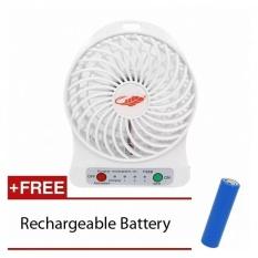 USB Mini Fan Portable Electric Fans LED PortableRechargeableDesktop Fan Cooling Air Conditioner (Warna: C0)-Intl
