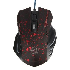 USB Mouse Gaming Kabel Optik (Merah)-Intl