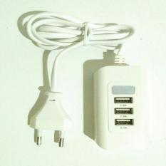 Usb port charger 3 in 1 4.1A white 1m