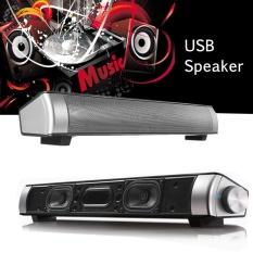 Penawaran Istimewa Usb Speaker Subwufer Super Bass Audio Sound Bar 3 5Mm Port Mic Untuk Pc Komputer Intl Terbaru