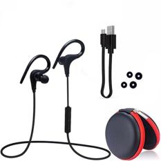 Harga Ustore Q10 Sport Menjalankan Bluetooth Wireless Sweatproof Super Stereo Bass Earphone Hitam Intl Termurah