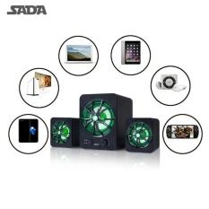 USTORE SADA D-207 Ukuran Portable 2.1 Surround Sound Speaker Phone Komputer Speaker-Intl