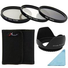 Sinar UV Kopral ND4 Filter Set + Kap Lensa 58mm For Canon 100D 1000D 1100D 50D 40D (HITAM)