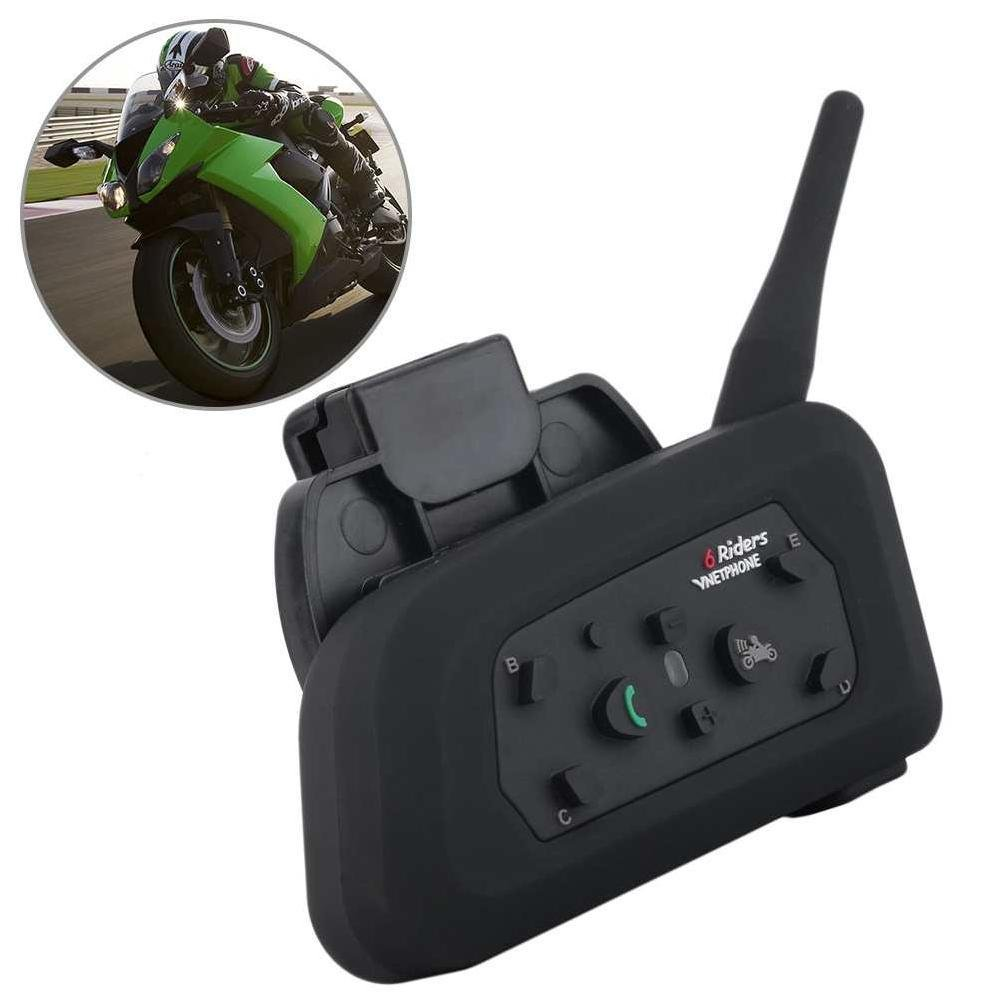 V6 1200 M Motor Ski ATV Helm Bluetooth 3.0 + EDR Intercom Headset