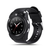 Harga Termurah V8 Smart Watch Calling Clock Camera Smartwatch For Android Ios Hitam
