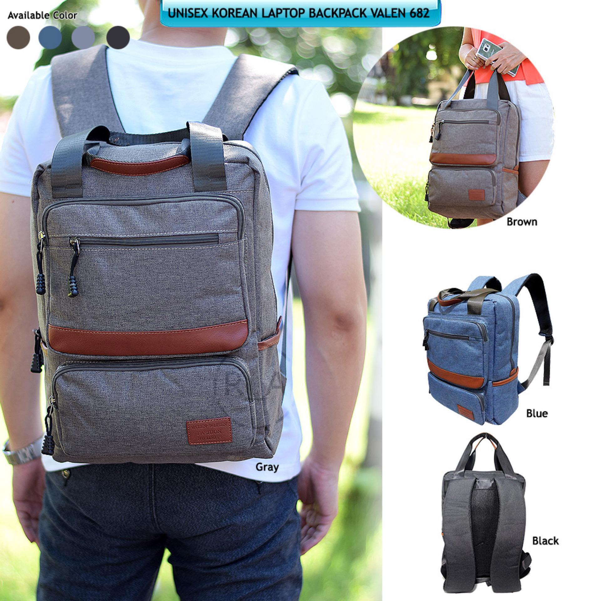 Review Valen Wlisen Backpack Ransel Korea Valen Wlisen 682 Tas Ransel Laptop Korea Valen Wlisen 682 Kualitas Ori Import Black Di Indonesia