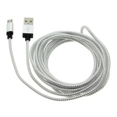 Vanker 2pcs 3M Copper Wires Micro USB Data Sync Universal ChargingCable For Samsung HTCfor LG(Silver)   - intl