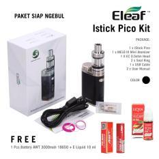 Vape Kit Mod Rokok Elektrik Eleaf Istick Pico 75w Paket Battery AWT Liquid 10ml Vapor