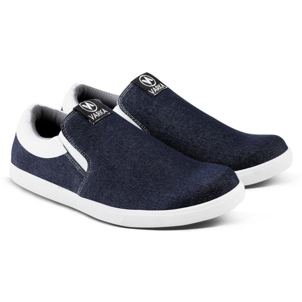 Harga Varka Vr 121 Sepatu Santai Dan Casual Pria Slip On Biru Branded