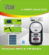 VDR V-3900BT Solar Tech Mobile Power Multifungsi Radio Dan MP3 Player