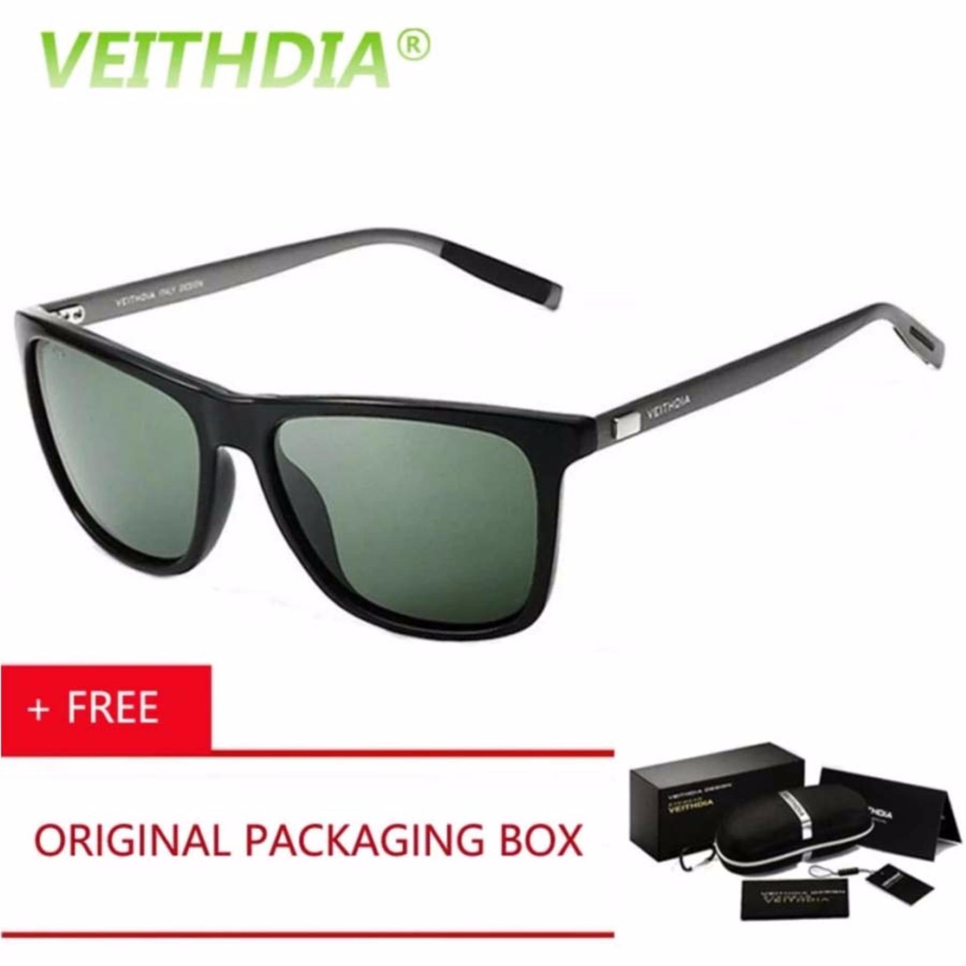 Beli Veithdia Kacamata Hitam Aluminium Sport Dan Travel Elegant Mirrored Uv400 Polarized Sunglasses 6108 Di Jawa Barat