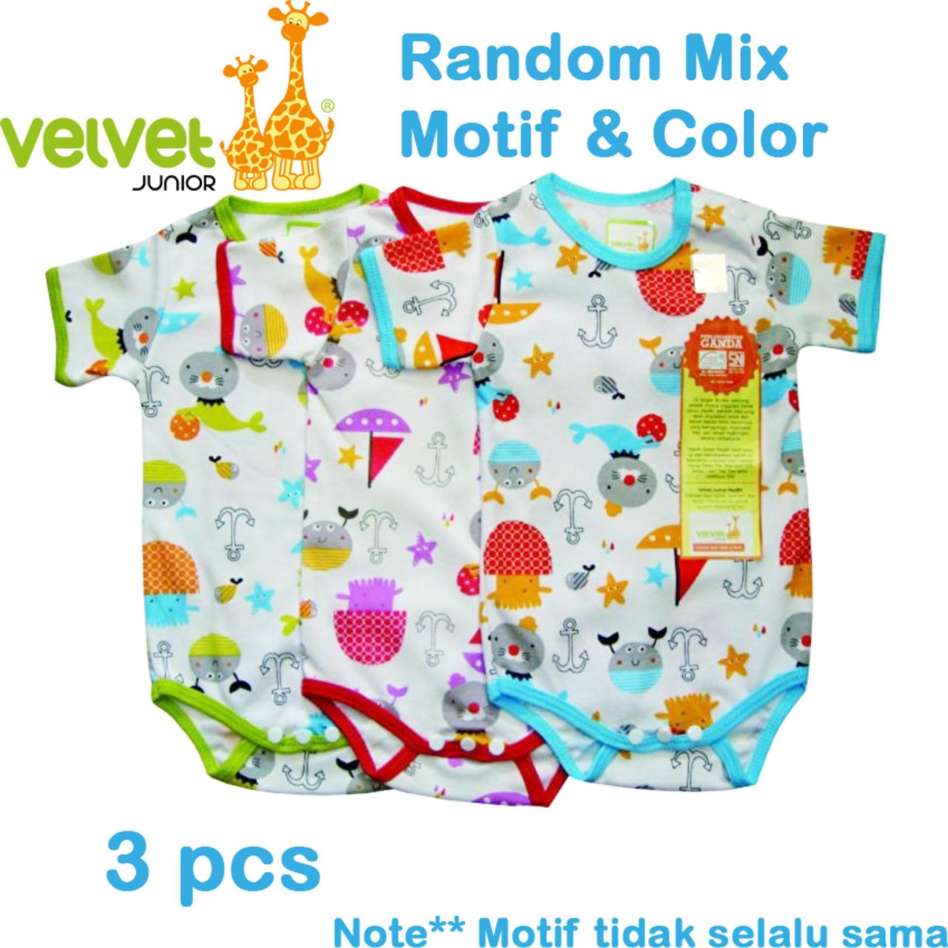 Spesifikasi Velvet Junior Jumper Segitiga Isi 3 Pcs Newborn Murah