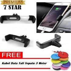 Vent Car Holder Besi Magnetic Holder For Universal GPS Hp +  Free Kabel Data MultiFungsi Charger Micro USB 3M (Random)