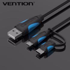 Vention 1.5 M 2 In 1 Micro USB Kabel dan Kabel USB Tipe C untuk MacBook Nokia N1 One Plus 2 Nexus 5X6 P Meizu PRO 5 Zuk Z1 150 Cm
