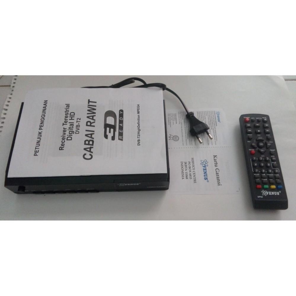 venus digital Set Top Box DVB-T2 cabai rawit (rca + loop)